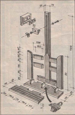 Stafelaj - stalak za slikare - skica