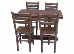 restoranski-sto-na-dva-stuba-sa-cetiri-stolice