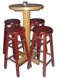 Bar stools with round seat